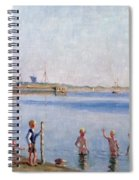 Boys At Water's Edge Spiral Notebook