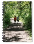 Boys Hiking In Woods Spiral Notebook