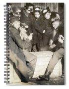 Boys Playing Poker, 1909 Spiral Notebook