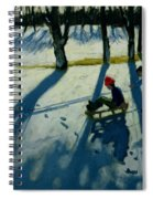 Boys Sledging Spiral Notebook