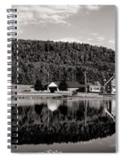 Brant Lake Reflections Black And White Spiral Notebook