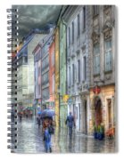Bratislava Rainy Day In Old Town Spiral Notebook