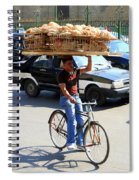 Bread On A Bicycle Spiral Notebook