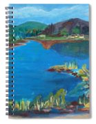 Breakwater On The Great Sacandaga  Spiral Notebook