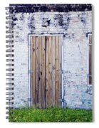 Brick And Wooden Building Spiral Notebook