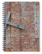 Brick Wall Cross Spiral Notebook