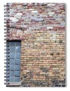 Brick Wall Window Spiral Notebook