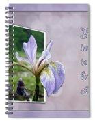 Bridal Shower Invitation - Blue Flag Iris Wildflower Spiral Notebook