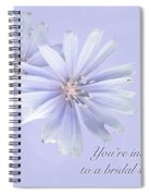 Bridal Shower Invitation - Chicory Wildflower Spiral Notebook