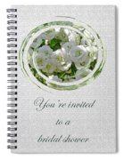 Bridal Shower Invitation - White Spirea Spiral Notebook