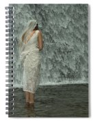 Bride Below Dam Spiral Notebook