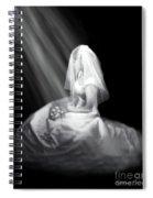 Bride In Cascading Light Spiral Notebook