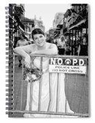 Bride On The Barricade On Bourbon St Nola Spiral Notebook