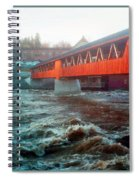 Bridge Across The Ammonoosuc River Spiral Notebook