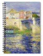 Bridge At Chatou Spiral Notebook