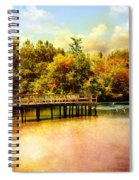 Bridge At Cypress Park Spiral Notebook