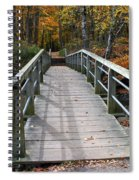 Bridge Into Autumn Spiral Notebook