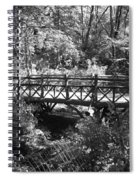 Bridge Of Centralpark In Black And White Spiral Notebook