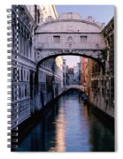 Bridge Of Sighs And Morning Colors In Venice Spiral Notebook