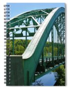 Bridge Spanning Connecticut River Spiral Notebook