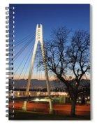 Bridge To Twilight Spiral Notebook