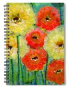 Bright Colored Flowers Shine Spiral Notebook