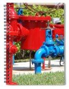 Bright Colored Machanics Spiral Notebook
