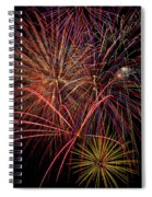 Bright Colorful Fireworks Spiral Notebook