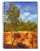 Bright Light On The Badlands Spiral Notebook
