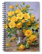Bright Smile - Roses In A Silver Vase Spiral Notebook