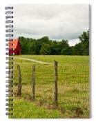Brillant Red Barn Spiral Notebook