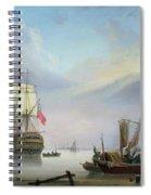 British Man-o'-war Off The Coast Spiral Notebook