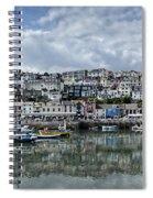 Brixham Harbour - Panorama Spiral Notebook