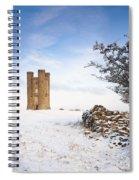 Broadway Tower In Winter Snow Spiral Notebook