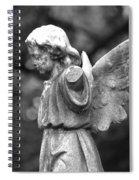 Broken Angel Bw Spiral Notebook
