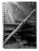 Broken Fence In Morning Light At Yosemite Spiral Notebook