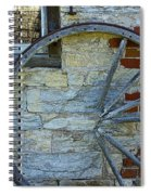 Broken Wagon Wheel Against The Wall Spiral Notebook