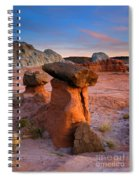 Brokentop Hoodoo Sunset Spiral Notebook