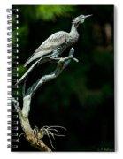 Bronze Cormorant Spiral Notebook