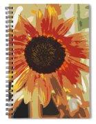 Bronze Sunflower Spiral Notebook