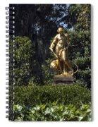 Brookgreen Golden Statue Spiral Notebook