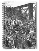 Brooklyn Bridge Panic 1883 Spiral Notebook
