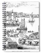 Brooklyn Ferry, C1765 Spiral Notebook