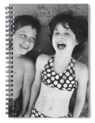 Brother And Sister On Beach Spiral Notebook
