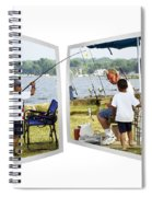 Brothers Fishing - Oof Spiral Notebook