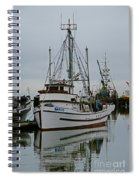 Brown And White Fish Boat Spiral Notebook