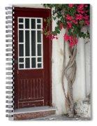 Brown Door In Greece Spiral Notebook