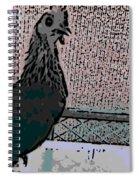 Brown Red Old English Game Bantam 2 Spiral Notebook