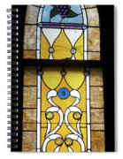 Brown Stained Glass Window Spiral Notebook