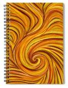 Brown Swirl Spiral Notebook